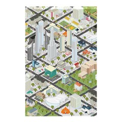 Simple Map Of The City Shower Curtain 48  X 72  (small)  by Nexatart