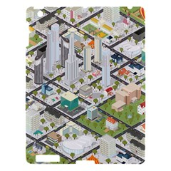 Simple Map Of The City Apple Ipad 3/4 Hardshell Case