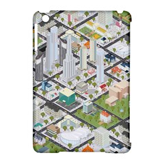 Simple Map Of The City Apple Ipad Mini Hardshell Case (compatible With Smart Cover) by Nexatart
