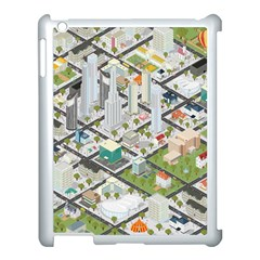 Simple Map Of The City Apple Ipad 3/4 Case (white)