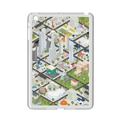 Simple Map Of The City Ipad Mini 2 Enamel Coated Cases by Nexatart