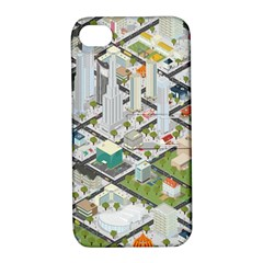 Simple Map Of The City Apple Iphone 4/4s Hardshell Case With Stand by Nexatart