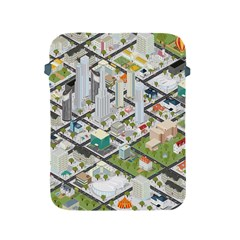 Simple Map Of The City Apple Ipad 2/3/4 Protective Soft Cases