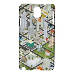 Simple Map Of The City Samsung Galaxy Note 3 N9005 Hardshell Case