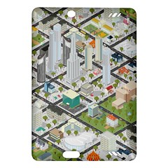 Simple Map Of The City Amazon Kindle Fire Hd (2013) Hardshell Case