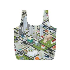 Simple Map Of The City Full Print Recycle Bags (s)