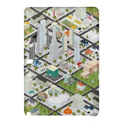 Simple Map Of The City Samsung Galaxy Tab Pro 10 1 Hardshell Case