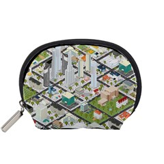 Simple Map Of The City Accessory Pouches (small)