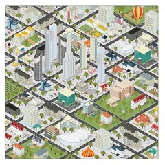 Simple Map Of The City Large Satin Scarf (square)