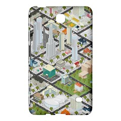 Simple Map Of The City Samsung Galaxy Tab 4 (8 ) Hardshell Case