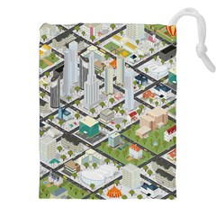Simple Map Of The City Drawstring Pouches (xxl)