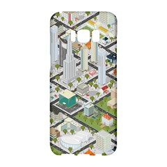 Simple Map Of The City Samsung Galaxy S8 Hardshell Case