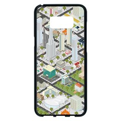 Simple Map Of The City Samsung Galaxy S8 Plus Black Seamless Case
