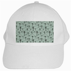 Telephone Lines Repeating Pattern White Cap