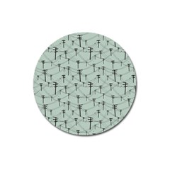 Telephone Lines Repeating Pattern Magnet 3  (round)