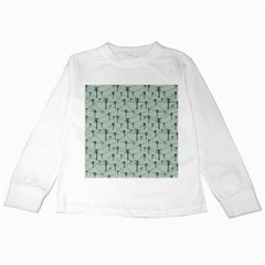 Telephone Lines Repeating Pattern Kids Long Sleeve T Shirts