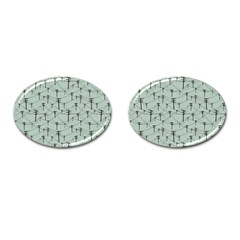 Telephone Lines Repeating Pattern Cufflinks (oval)
