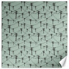 Telephone Lines Repeating Pattern Canvas 12  X 12   by Nexatart