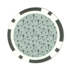 Telephone Lines Repeating Pattern Poker Chip Card Guard