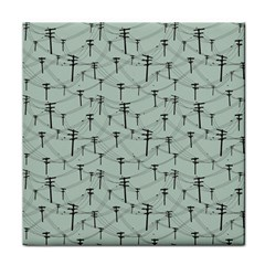 Telephone Lines Repeating Pattern Face Towel