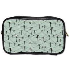 Telephone Lines Repeating Pattern Toiletries Bags 2 Side