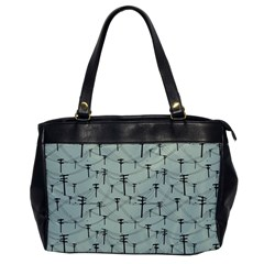Telephone Lines Repeating Pattern Office Handbags by Nexatart