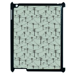 Telephone Lines Repeating Pattern Apple Ipad 2 Case (black) by Nexatart