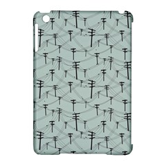 Telephone Lines Repeating Pattern Apple Ipad Mini Hardshell Case (compatible With Smart Cover) by Nexatart