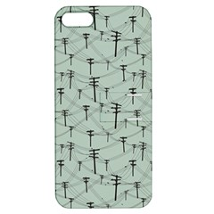 Telephone Lines Repeating Pattern Apple Iphone 5 Hardshell Case With Stand
