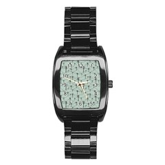 Telephone Lines Repeating Pattern Stainless Steel Barrel Watch by Nexatart
