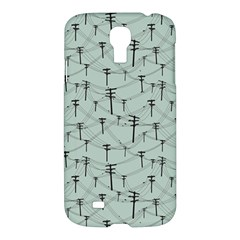 Telephone Lines Repeating Pattern Samsung Galaxy S4 I9500/i9505 Hardshell Case