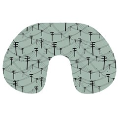Telephone Lines Repeating Pattern Travel Neck Pillows