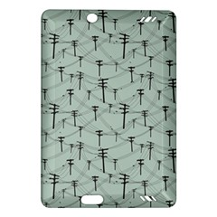 Telephone Lines Repeating Pattern Amazon Kindle Fire Hd (2013) Hardshell Case