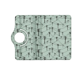 Telephone Lines Repeating Pattern Kindle Fire Hd (2013) Flip 360 Case by Nexatart