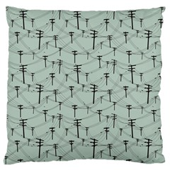 Telephone Lines Repeating Pattern Large Flano Cushion Case (two Sides) by Nexatart