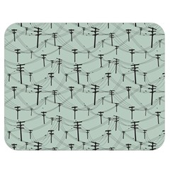 Telephone Lines Repeating Pattern Double Sided Flano Blanket (medium)  by Nexatart