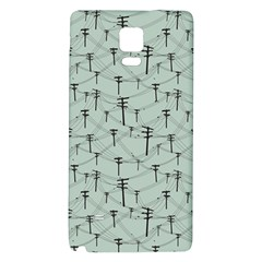Telephone Lines Repeating Pattern Galaxy Note 4 Back Case
