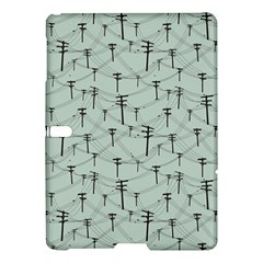 Telephone Lines Repeating Pattern Samsung Galaxy Tab S (10 5 ) Hardshell Case