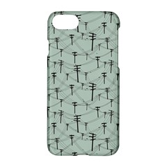 Telephone Lines Repeating Pattern Apple Iphone 7 Hardshell Case