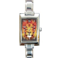 Fractal Lion Rectangle Italian Charm Watch