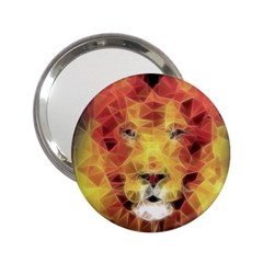 Fractal Lion 2 25  Handbag Mirrors by Nexatart