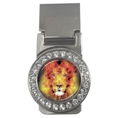 Fractal Lion Money Clips (cz)  by Nexatart