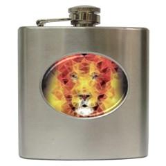 Fractal Lion Hip Flask (6 Oz)