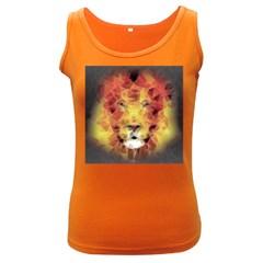 Fractal Lion Women s Dark Tank Top