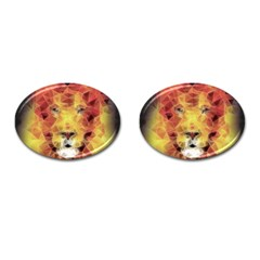Fractal Lion Cufflinks (oval) by Nexatart