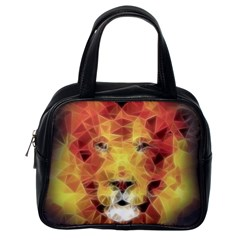Fractal Lion Classic Handbags (one Side)
