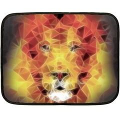 Fractal Lion Fleece Blanket (mini) by Nexatart