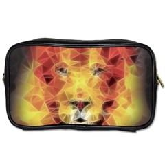Fractal Lion Toiletries Bags 2 Side by Nexatart