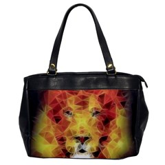 Fractal Lion Office Handbags by Nexatart