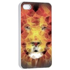 Fractal Lion Apple Iphone 4/4s Seamless Case (white)